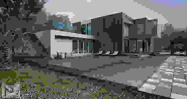 загородный дом 250м2: Дома в . Автор – ALEXANDER ZHIDKOV ARCHITECT,