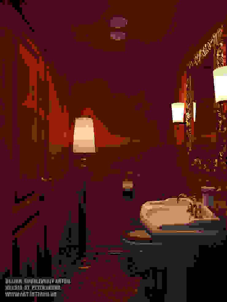 Санузел в баре Ванная комната в эклектичном стиле от ART-INTERNO Эклектичный