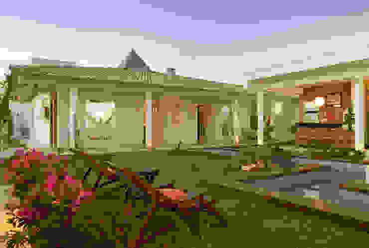 Casa Belvedere Jardins modernos por Andrea Ker Bacha Design LTDA Moderno