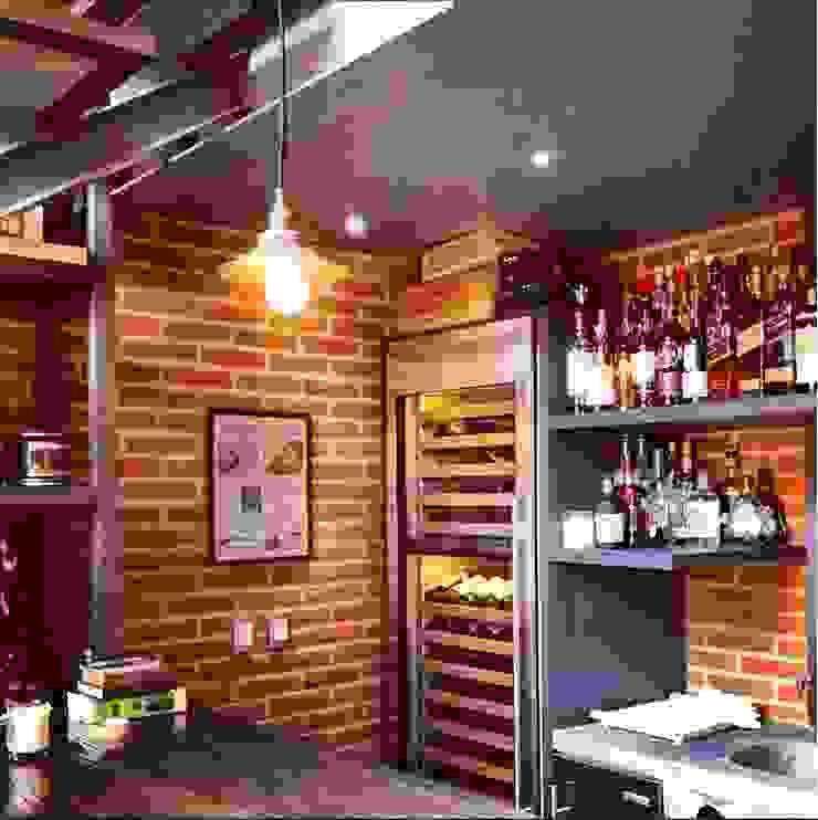 Bar Cocinas modernas de Quinto Distrito Arquitectura Moderno Ladrillos