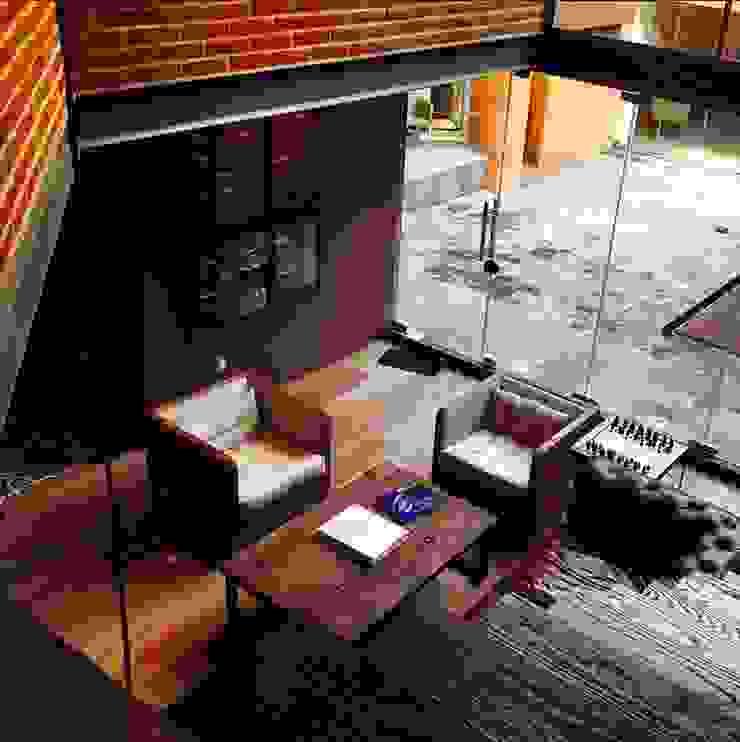 Salón Salones modernos de Quinto Distrito Arquitectura Moderno Ladrillos