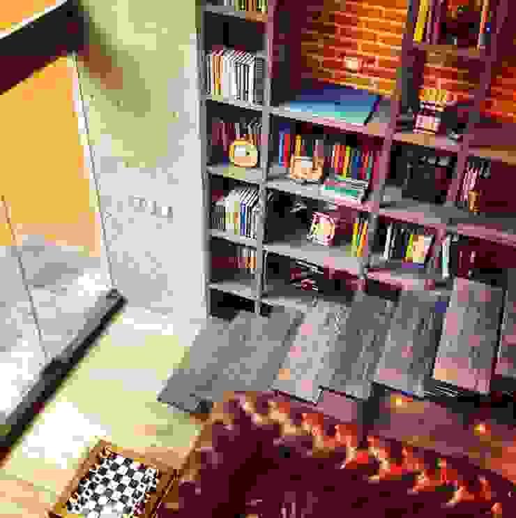 Salón Salones modernos de Quinto Distrito Arquitectura Moderno Cuero Gris