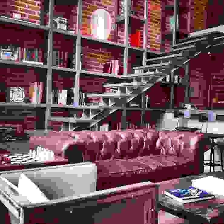 Biblioteca Higueras Salones modernos de Quinto Distrito Arquitectura Moderno Cuero Gris