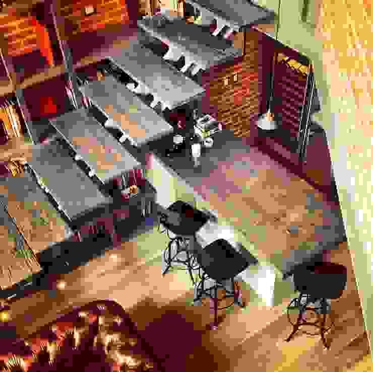 Biblioteca Higueras Cocinas modernas de Quinto Distrito Arquitectura Moderno Madera Acabado en madera