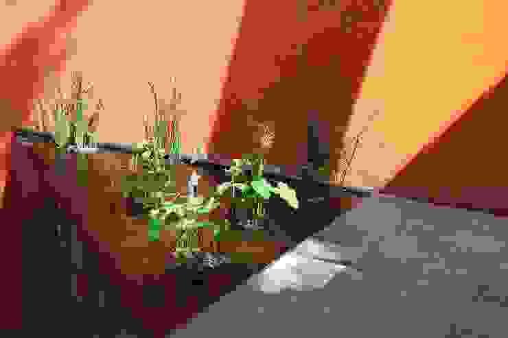 Espejo de agua en acceso Jardines modernos de Quinto Distrito Arquitectura Moderno Piedra