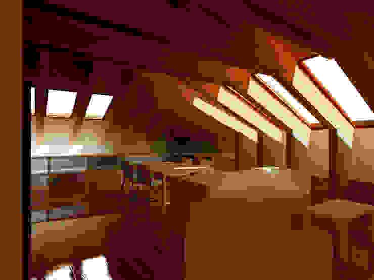 Progetti in soffitta 1 Soggiorno moderno di Studio ArchiGraphos Moderno