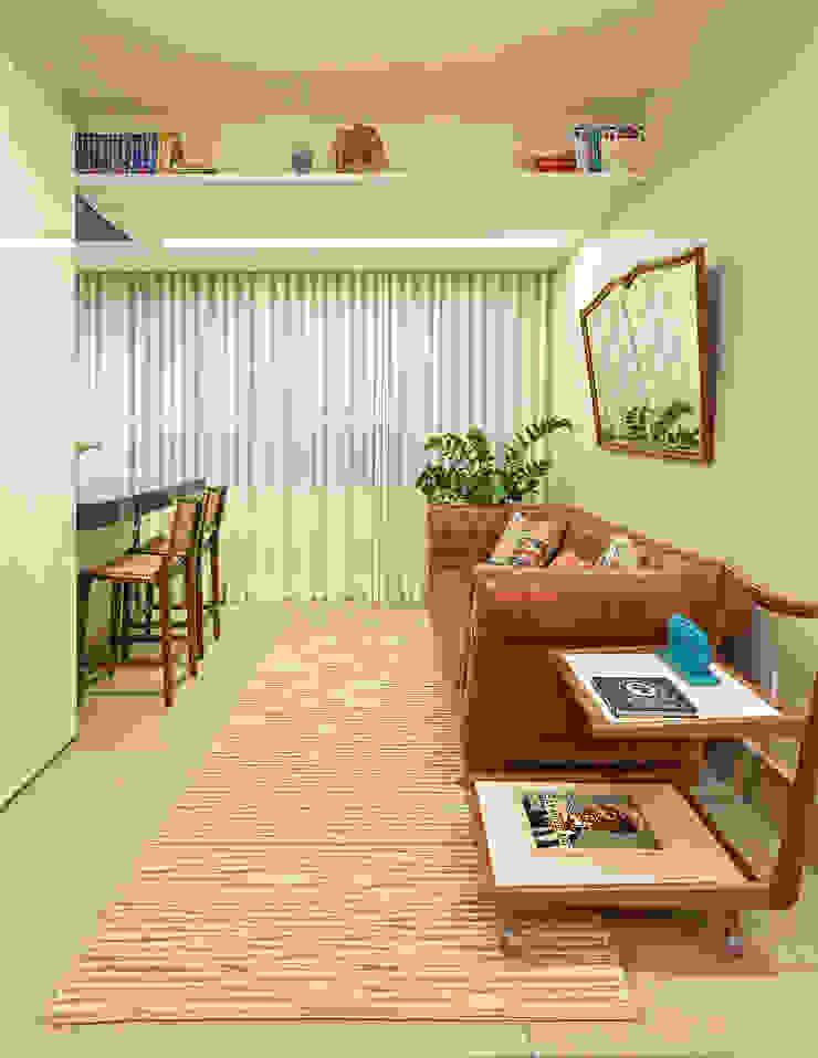 Cobertura .SC Amis Arquitetura e Decoração Salas de estar ecléticas
