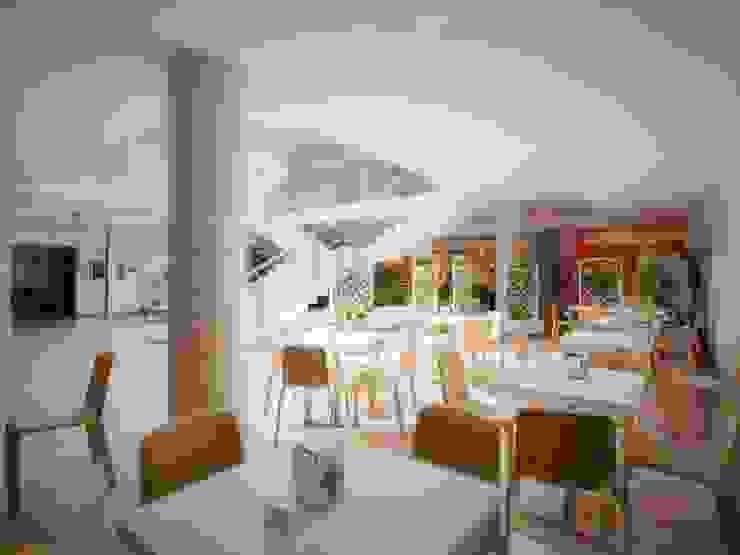 CENTRO COMMERCIALE LA PIAZZA DI ERMES Centri commerciali moderni di Nau Architetti Moderno