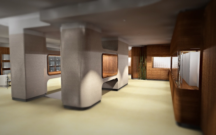 GIOIELLERIA F Negozi & Locali commerciali moderni di Nau Architetti Moderno