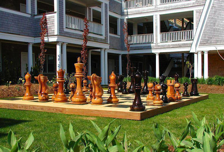 Szachy ogrodowe - drewniane szachy gigant od homify Nowoczesny Drewno O efekcie drewna
