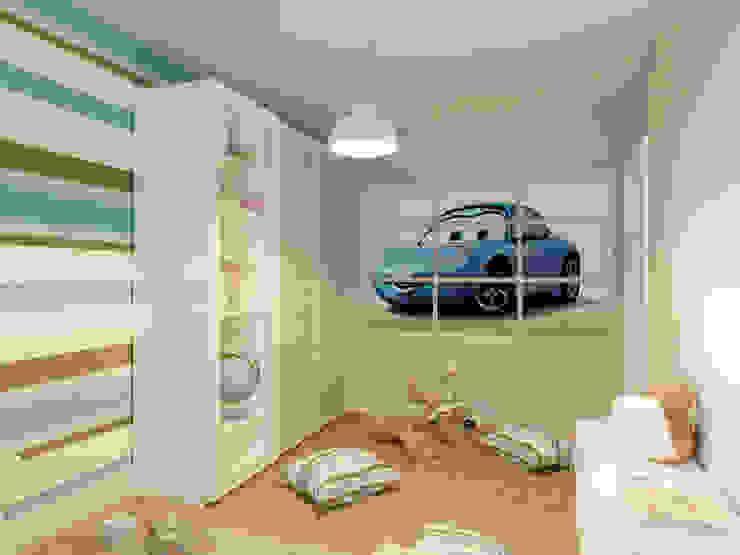 Современная квартира в Тюмени: визуализация Детская комната в стиле модерн от OK Interior Design Модерн