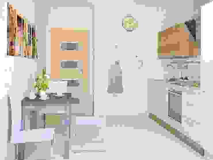 1-но комнатная квартира 36.96m² Кухня в стиле модерн от PLANiUM Модерн