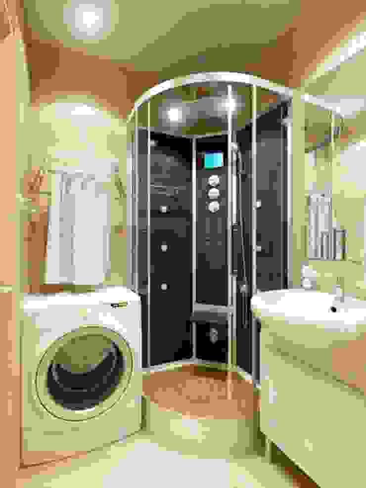 1-но комнатная квартира-студия 23.60m² Ванная комната в стиле модерн от PLANiUM Модерн
