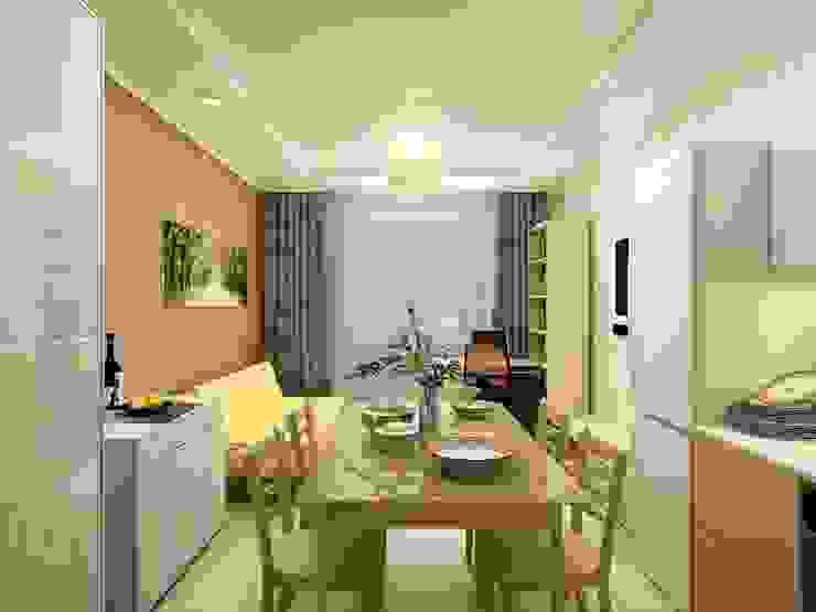 1-но комнатная квартира-студия 27.40m² Кухня в стиле кантри от PLANiUM Кантри