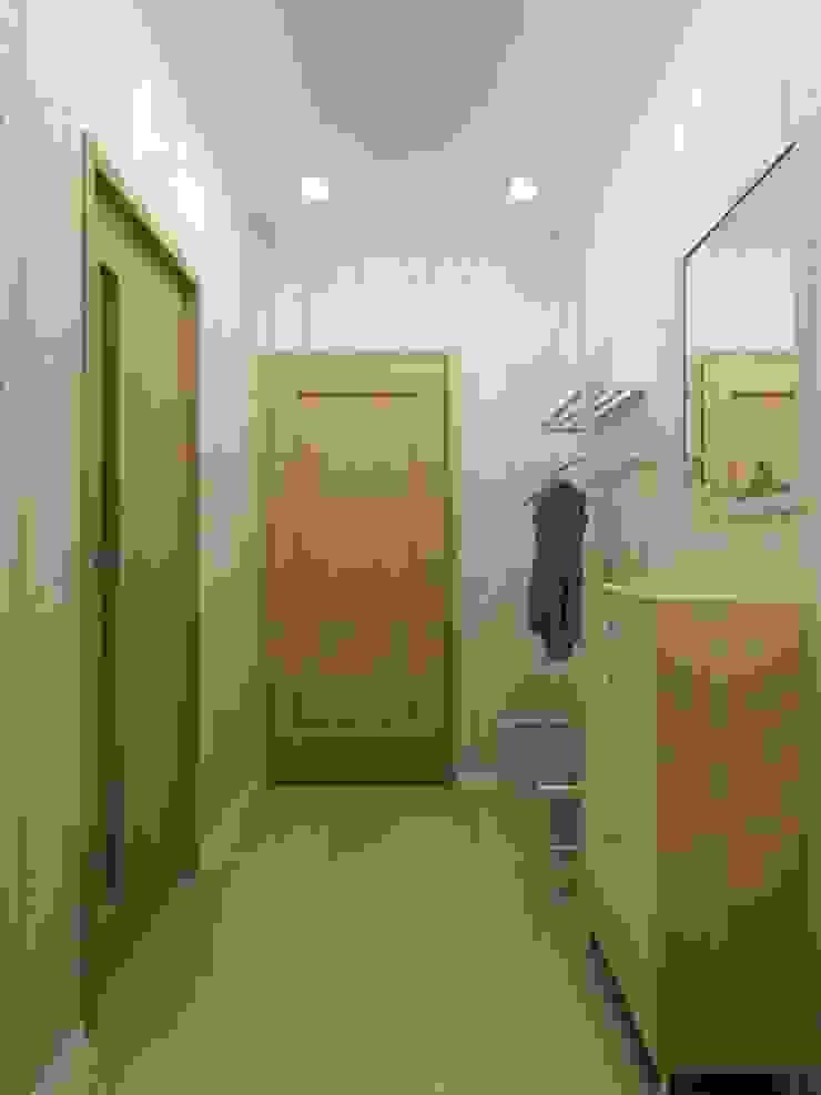 1-но комнатная квартира-студия 27.40m² Коридор, прихожая и лестница в стиле кантри от PLANiUM Кантри