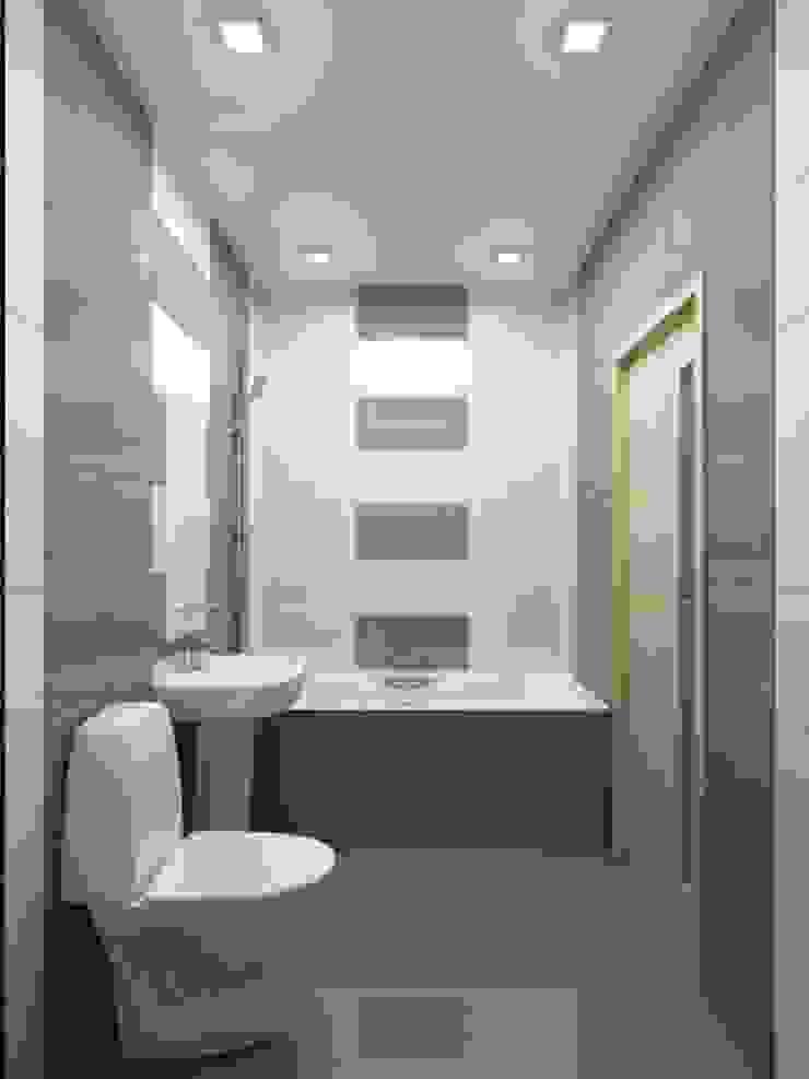 1-но комнатная квартира-студия 27.40m² Ванная комната в стиле модерн от PLANiUM Модерн