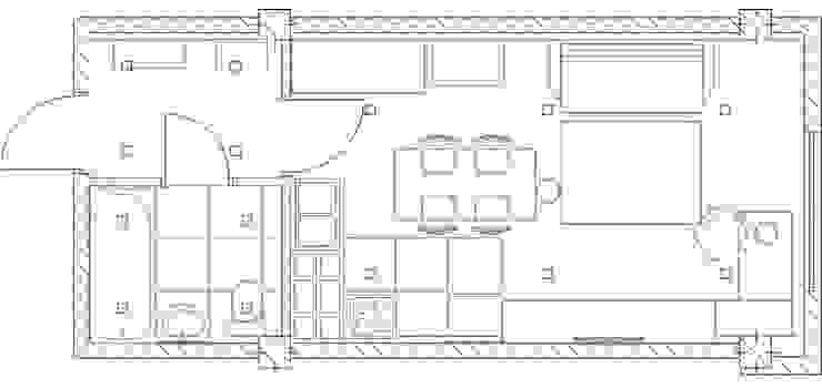 1-но комнатная квартира-студия 27.40m² от PLANiUM Кантри