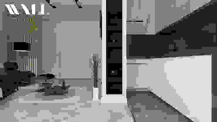 Квартира для молодой семьи, ЖК <q>Премьер Палас</q> Кухня в стиле минимализм от ДИЗАЙНЕР ИНТЕРЬЕРА САНКТ-ПЕТЕРБУРГ Минимализм