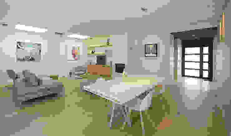 Maison M. G Salon minimaliste par Studio SD Minimaliste