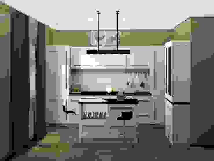 2-х комнатная квартира 82.72m² Кухня в стиле модерн от PLANiUM Модерн