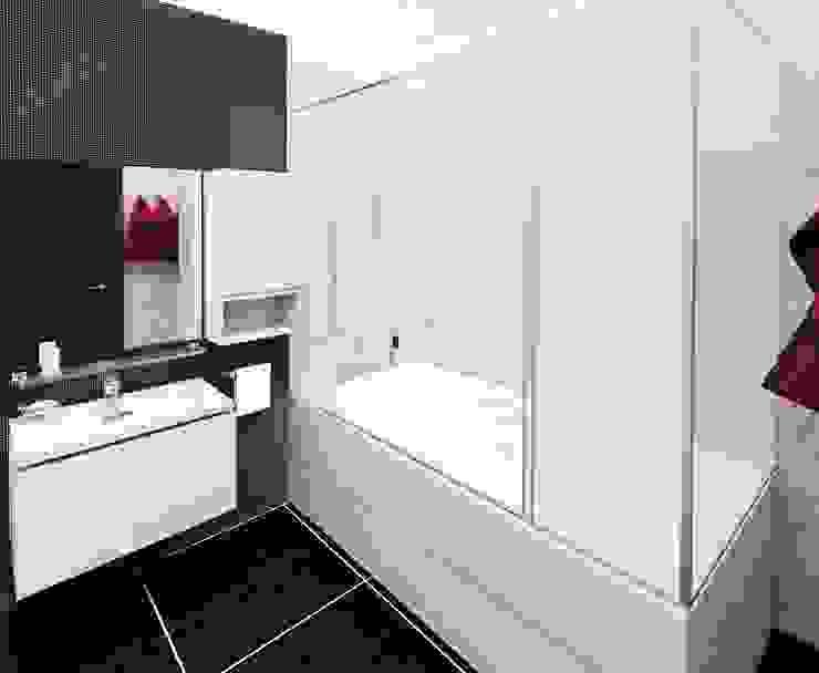 2-х комнатная квартира 82.72m² Ванная комната в стиле модерн от PLANiUM Модерн