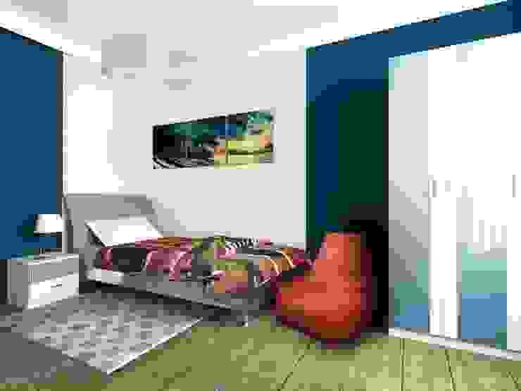 2-х комнатная квартира 82.72m² Спальня в стиле модерн от PLANiUM Модерн