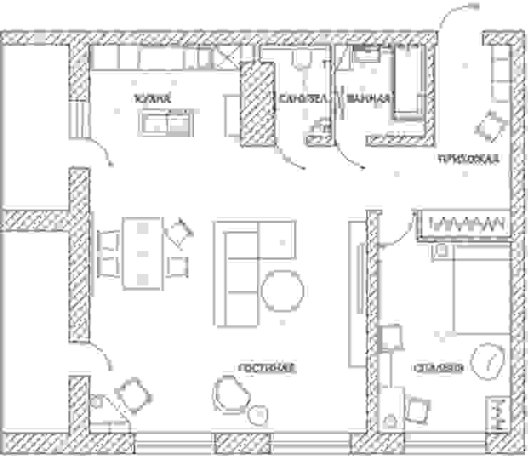 2-х комнатная квартира 82.72m² от PLANiUM