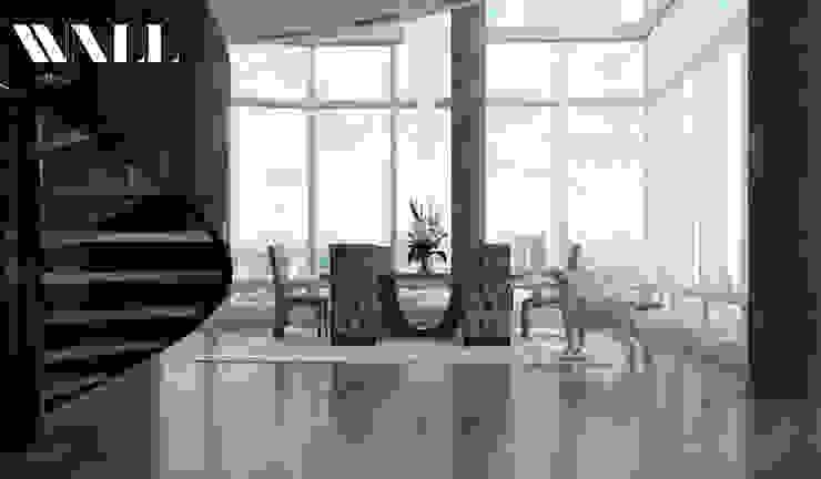 Двухэтажные апартаменты в стиле Арт-Деко Столовая комната в классическом стиле от ДИЗАЙНЕР ИНТЕРЬЕРА САНКТ-ПЕТЕРБУРГ Классический