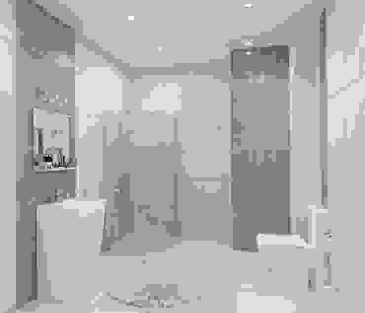 3-х комнатная квартира 112.60m² Ванная комната в стиле минимализм от PLANiUM Минимализм