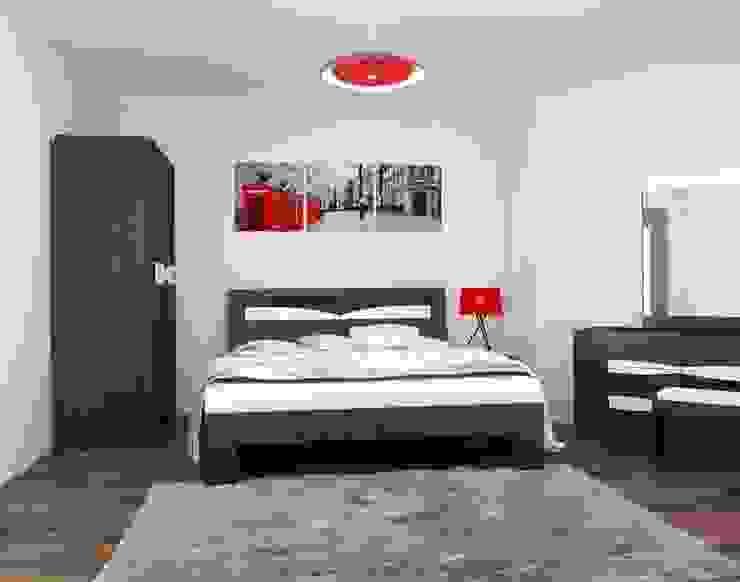3-х комнатная квартира 112.60m² Спальня в стиле модерн от PLANiUM Модерн