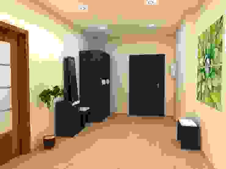 3-х комнатная квартира 112.60m² Коридор, прихожая и лестница в стиле минимализм от PLANiUM Минимализм