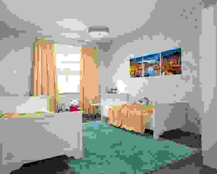 3-х комнатная квартира 112.60m² Детская комнатa в классическом стиле от PLANiUM Классический