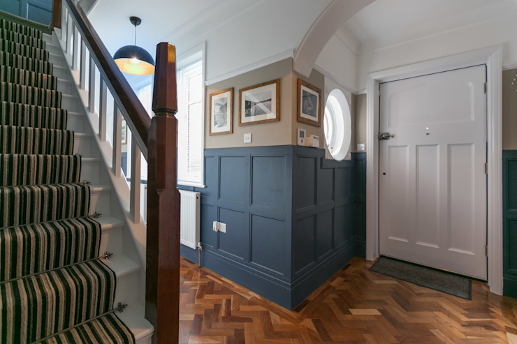 Beechwood Classic style corridor, hallway and stairs by SDA Architecture Ltd Classic