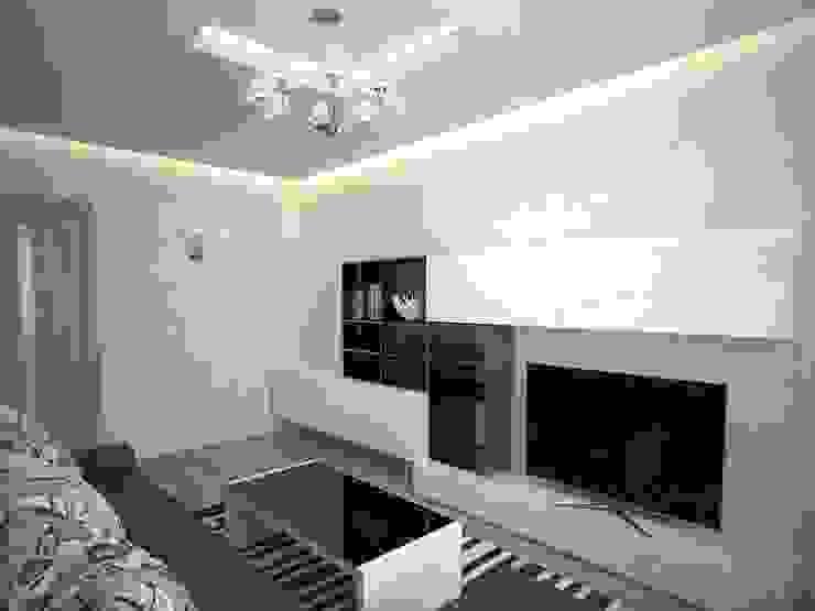 3-х комнатная квартира 75.42m² Гостиная в скандинавском стиле от PLANiUM Скандинавский