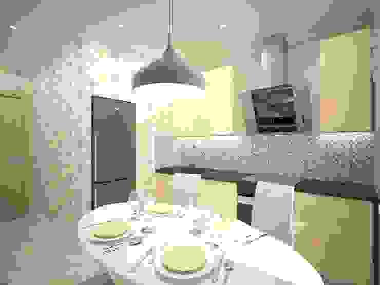 3-х комнатная квартира 75.42m² Кухня в стиле модерн от PLANiUM Модерн