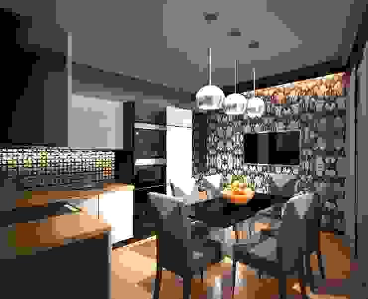 2-х комнатная квартира 78.50m² Кухня в колониальном стиле от PLANiUM Колониальный