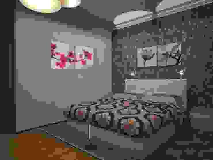 2-х комнатная квартира 78.50m² Спальня в колониальном стиле от PLANiUM Колониальный