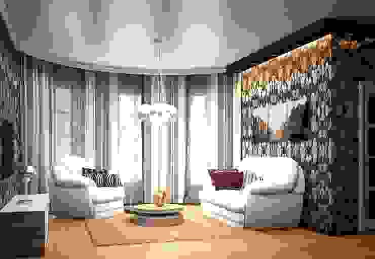 2-х комнатная квартира 78.50m² Гостиная в колониальном стиле от PLANiUM Колониальный