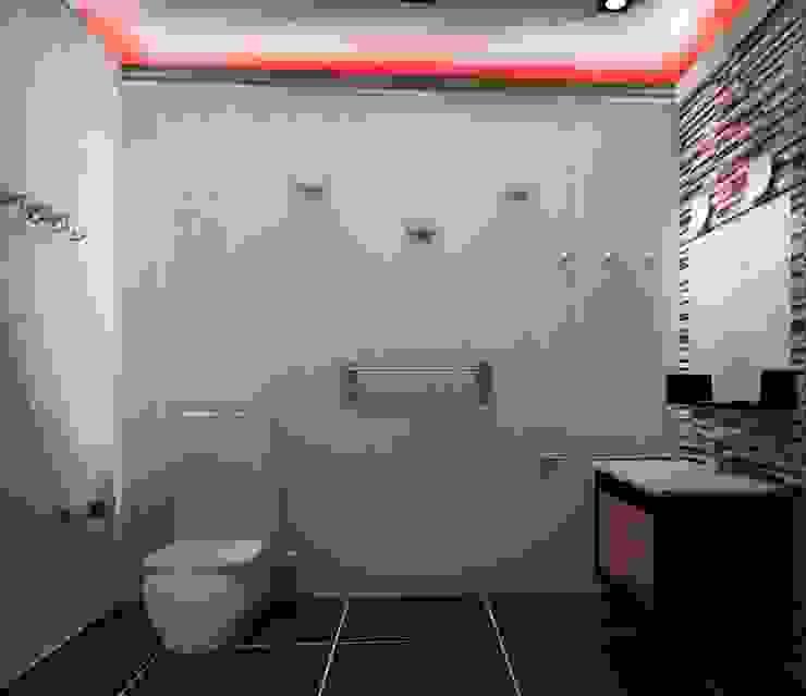 2-х комнатная квартира 78.50m² Ванная в колониальном стиле от PLANiUM Колониальный