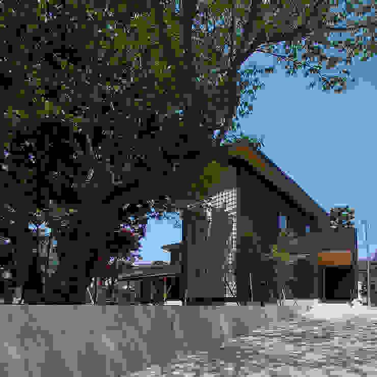 木薫る夏の教会「全開口と空窓の黙想の家」 モダンな 家 の M設計工房 モダン 金属