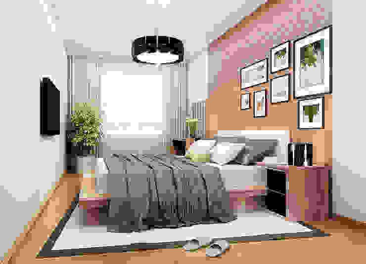 2-х комнатная квартира 54.10m² Спальня в классическом стиле от PLANiUM Классический