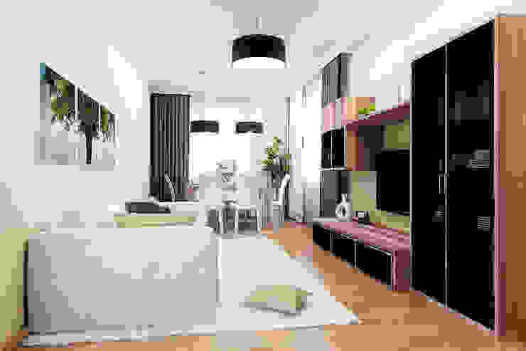 2-х комнатная квартира 54.10m² Гостиная в стиле модерн от PLANiUM Модерн