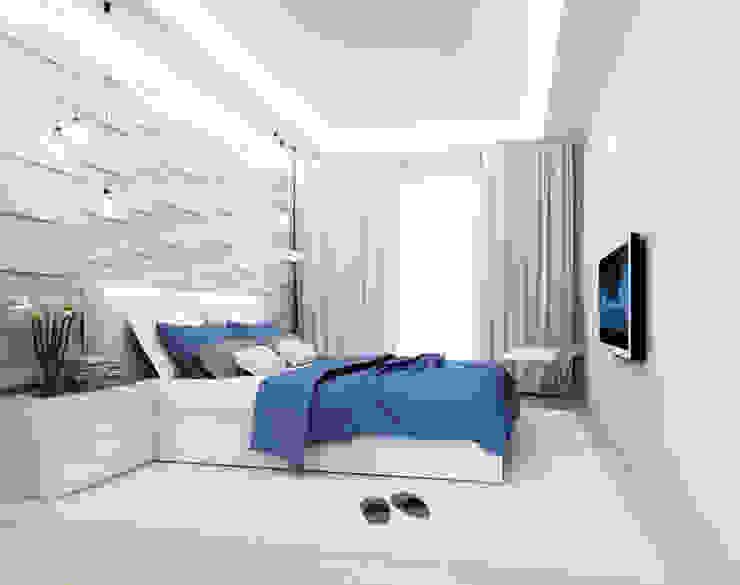 2-х комнатная квартира 61.50m² Спальня в стиле лофт от PLANiUM Лофт
