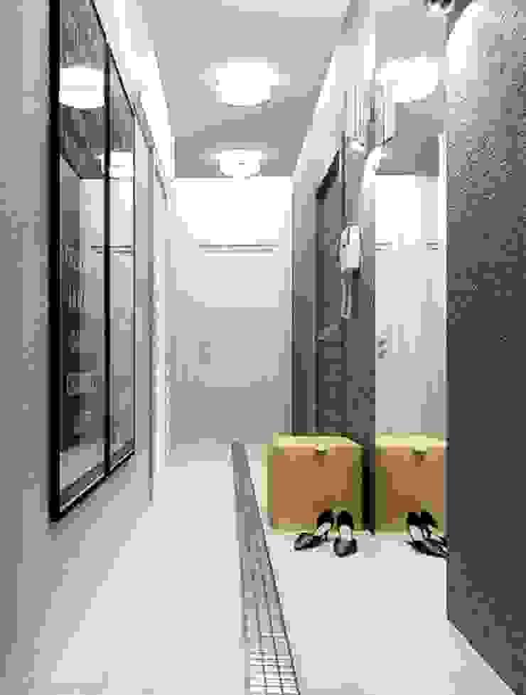 2-х комнатная квартира 61.50m² Коридор, прихожая и лестница в стиле лофт от PLANiUM Лофт