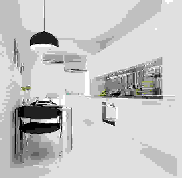 2-х комнатная квартира 61.50m² Кухня в стиле лофт от PLANiUM Лофт