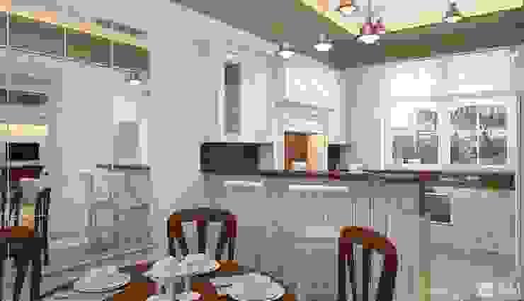 Интерьер дома в колониальном стиле Кухня в колониальном стиле от GM-interior Колониальный