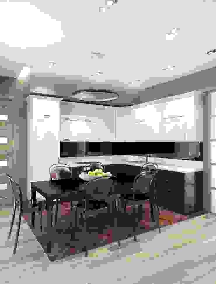 Квартира ЖК «Парк-холл Горький» Кухня в стиле минимализм от UKRINTEL Минимализм