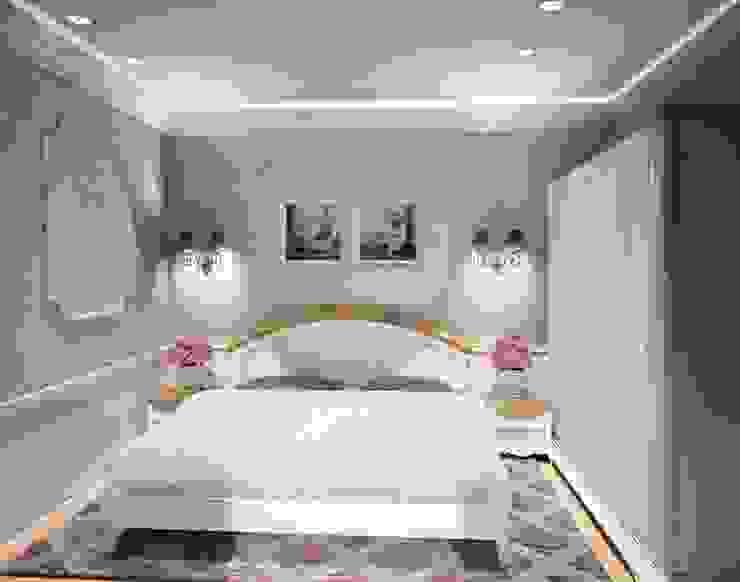 1-но комнатная квартира 61.15m² Спальня в классическом стиле от PLANiUM Классический