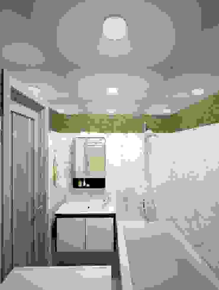 1-но комнатная квартира 37.36m² Ванная комната в стиле модерн от PLANiUM Модерн
