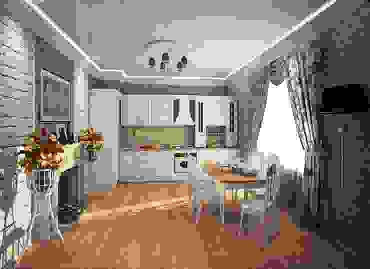 1-но комнатная квартира 61.15m² Кухня в классическом стиле от PLANiUM Классический